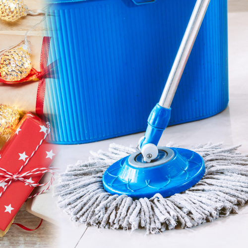 This Mum Uses A Mop Handle To Wrap Her Christmas Presents And It's A Hack We Didn't Know We Needed