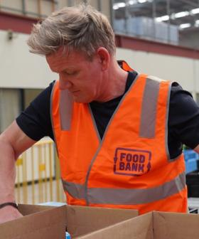 Chef Gordon Ramsay Helps Pack Food For Aussie Bushfire Victims