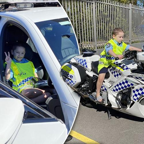 "Terminally-Ill Boy With Just ""Months To Live"" Lives Out His Police Officer Dreams"