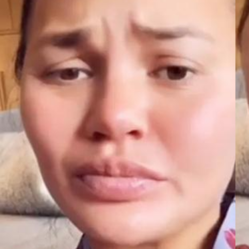 When Have You Had Too Much Of A Good Thing? Chrissy Teigen Has A Peeling Tongue From Too Many Sour Lollies!