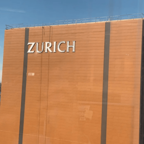 Can You See The Mistake On The Newly Installed Zurich Skyscaper?