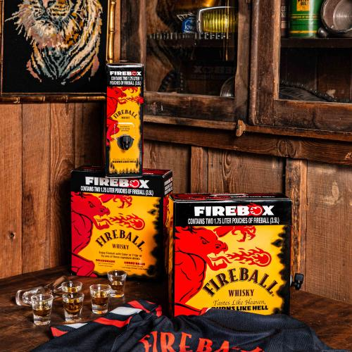 Merry Christmas! Fireball Whisky Is Selling A 3.5L Firebox For All Your Party Needs