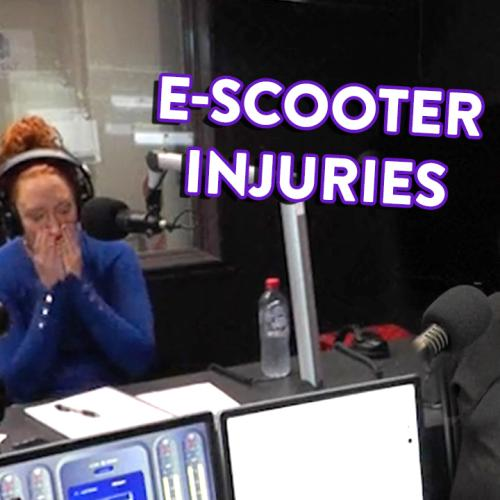 Becky from Dunlop told us about an E-Scooter injury that left Kristen and Nige SPEECHLESS
