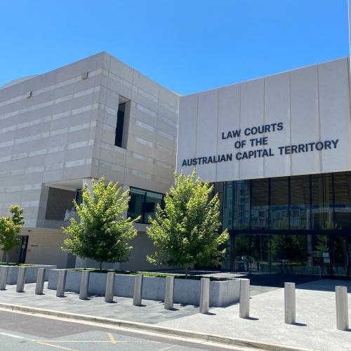 Belconnen police assault lands man in court