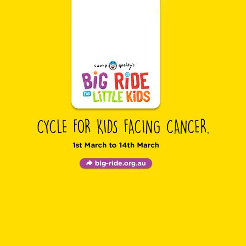 Join the Big Ride For Little Kids and raise money for kids with cancer this March