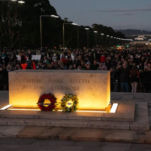 Crowds allowed at Canberra's ANZAC Commemorations