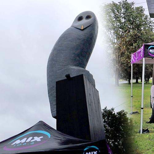 Kristen & Nige Reveal the Truth Behind the Belco Owl Statue