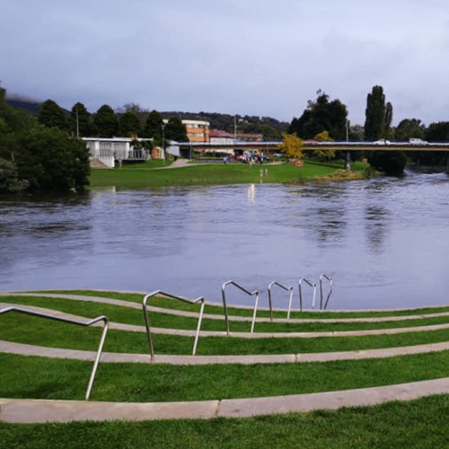 Local rivers begin to fall as wet weather eases