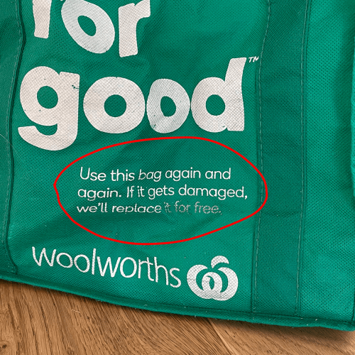 People Are Only Just Realising This Little Known Fact About Woolworths Green Bags