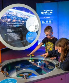 We get a first look at Questacon's new 'Australia in Space' exhibition.